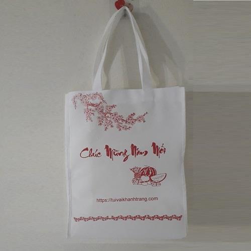 Túi vải không dệt Chúc mừng năm mới có sẵn tại xưởng mẫu 2